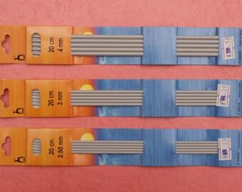Pony Sock Knitting Needles - Sets of 4 - choose your size