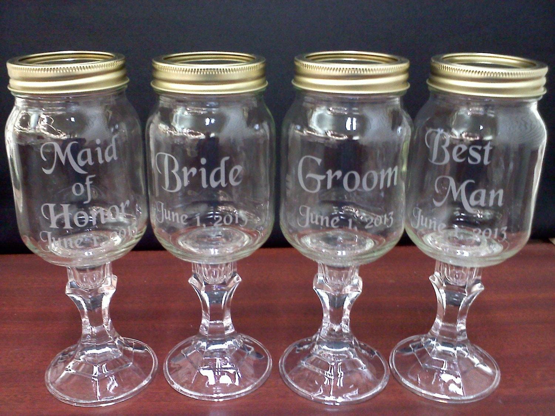 Custom Wedding Wine Glasses : Chandeliers & Pendant Lights