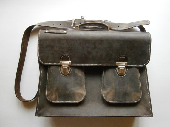 Luxury 15 inch laptop bag, Mr.Jones's Leather Briefcase, Vintage Genuine Leather Messenger Bag, Office Bag, Man Briefcase, Laptop Bag
