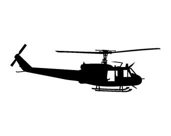 Huey UH-1 Helicopter Vinyl Sticker v1