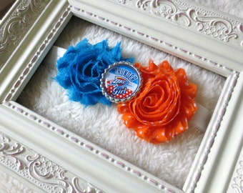 OKC Thunder Headband, Oklahoma City Thunder Girl Headband, NBA Playoff Headbands, OKC Baby Headbands, Newborns, Infants, Toddlers, Girls