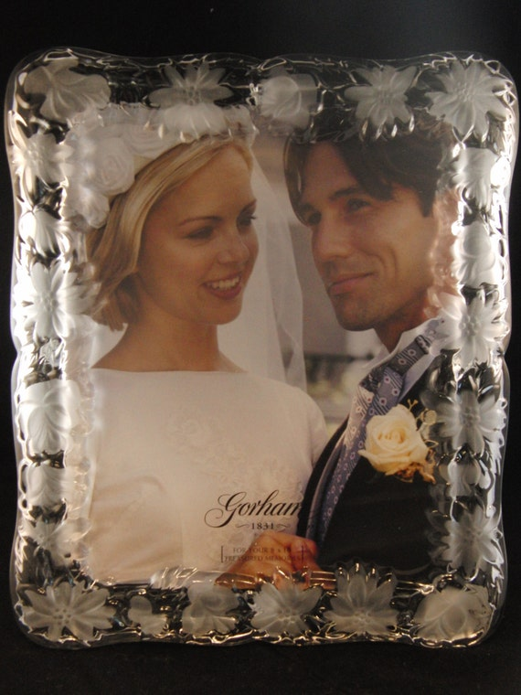 Items Similar To Crystal Wedding Photo Frame By Gorham Sentimental Traditions With Original Box