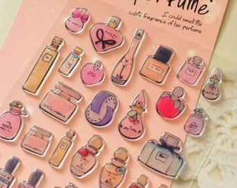 Perfume  Stickers  - 1 sheet