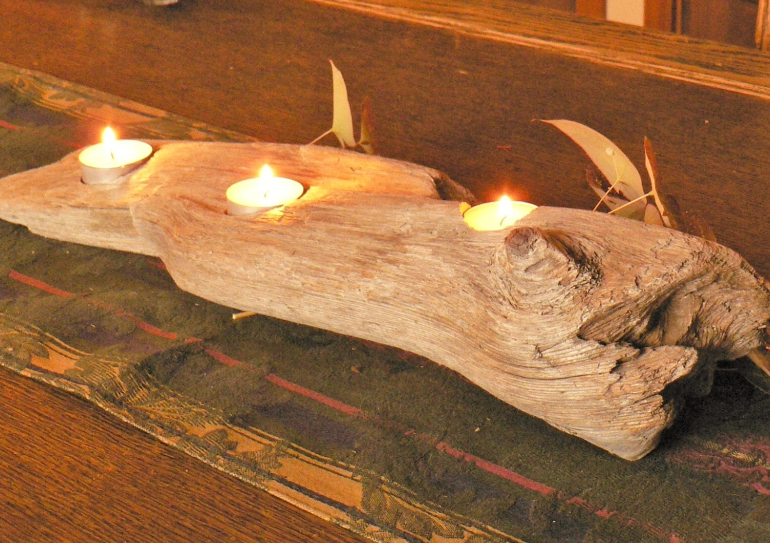 rustic driftwood candle centerpiece for by flotsamjetsamcrafts Driftwood Centerpieces for Weddings Lantern Centerpieces and Driftwood