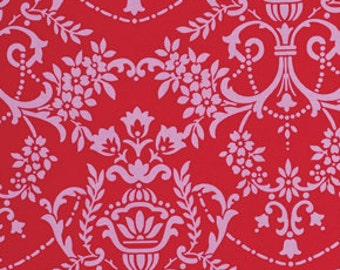 Crazy Love Fabric 'Natasha' Red Jennifer Paganelli for Free Spirit Fabric 1 yard