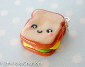 Kawaii sandwich polymer clay charm