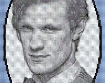 Matt Smith Doctor Who Portrait Cross Stitch Chart