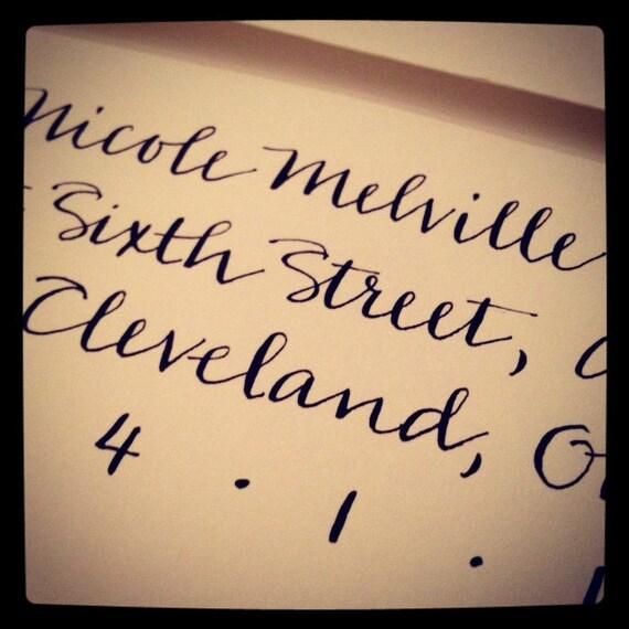 Wedding calligraphy modern hand by