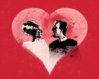 Frankenstein Valentine (Original Giclee Fine Art Print)