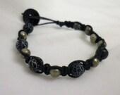 Handmade Black Marble Ceramic Beaded Bracelet