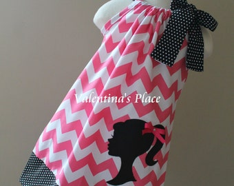 Vintage Girl Silhouette pillowcase dress