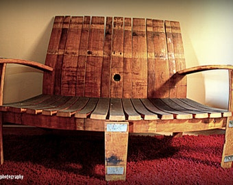 Curved Front Love Seat Bench