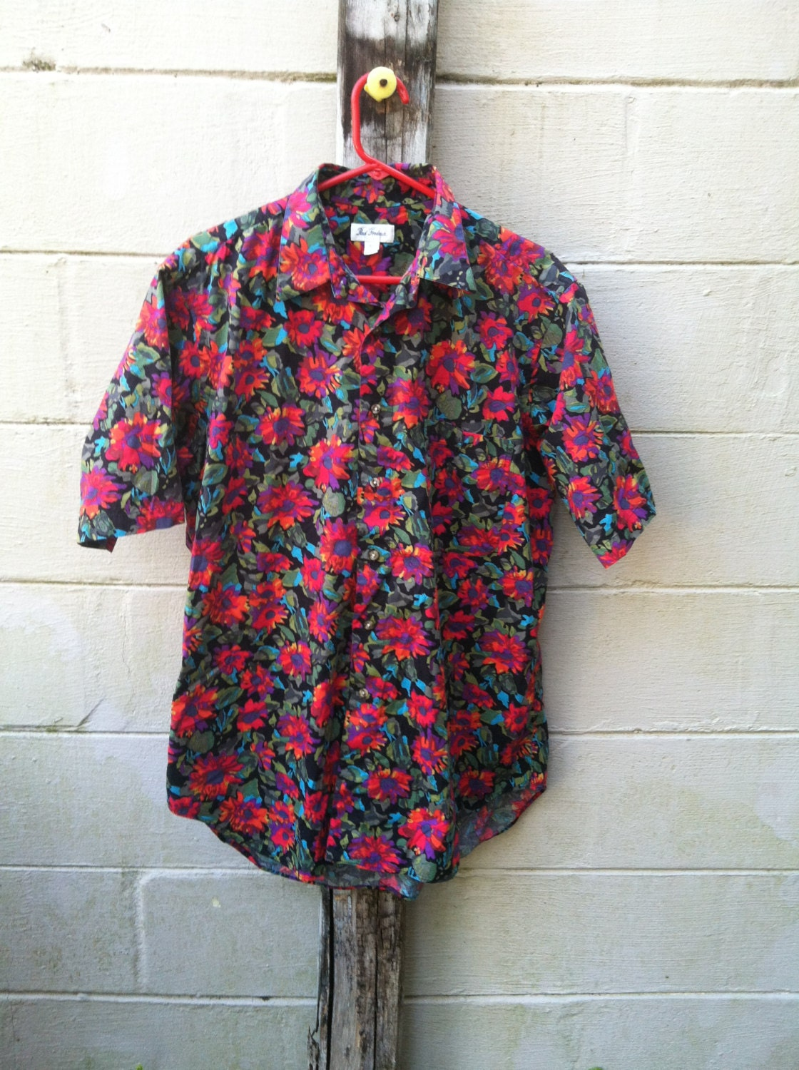 Men's vintage floral print button up by TheeCommonThread ...