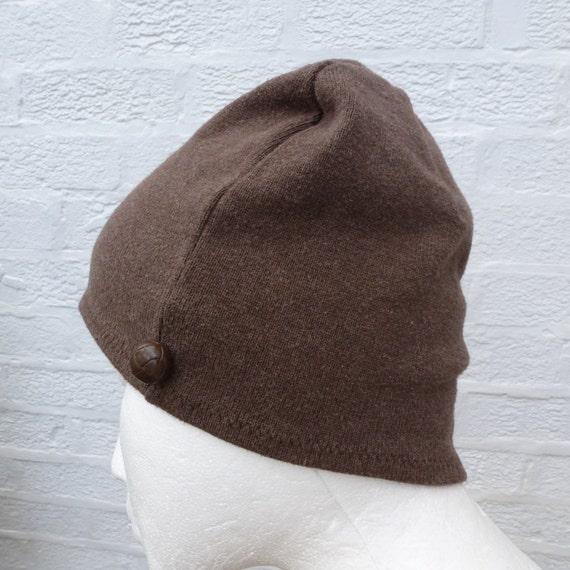 Brown beanie hat mens wool beanie ladies winter hat womens beanie mens wool girls hat.