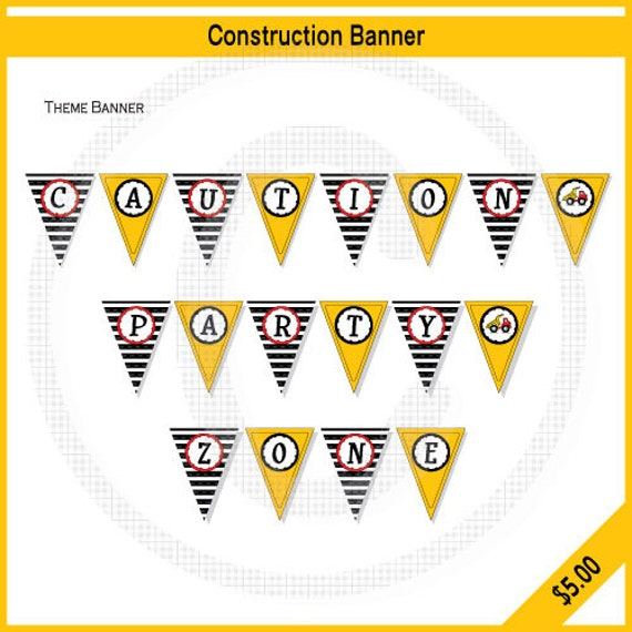 Items Similar To Construction Theme Party Banner