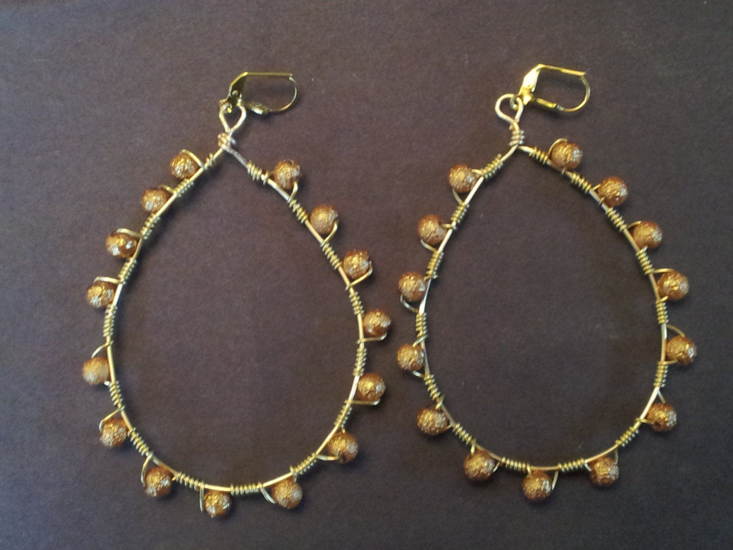 tear drop hoop earrings by uniquejazzcollection on etsy