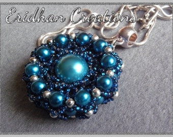 Netted beaded pendant - tutorial