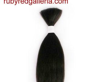 BD0008M2 Dark Brown Straight NuBorn Mohair 0.25 oz