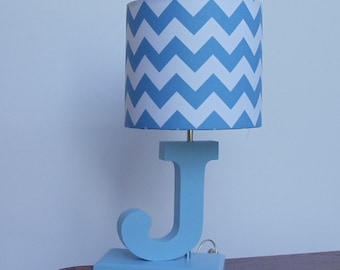 Medium navy bluewhite chevron drum lamp shade nursery or handmade small bluewhite chevron lamp shade nursery boys lamp shade aloadofball Gallery