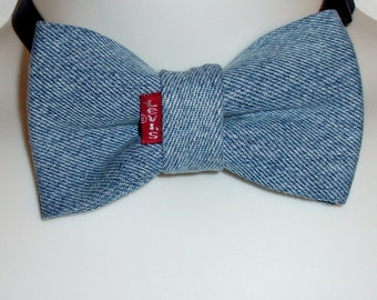 Blue jean bow tie denim Levi's Original Uncle Bill's Bow Tie