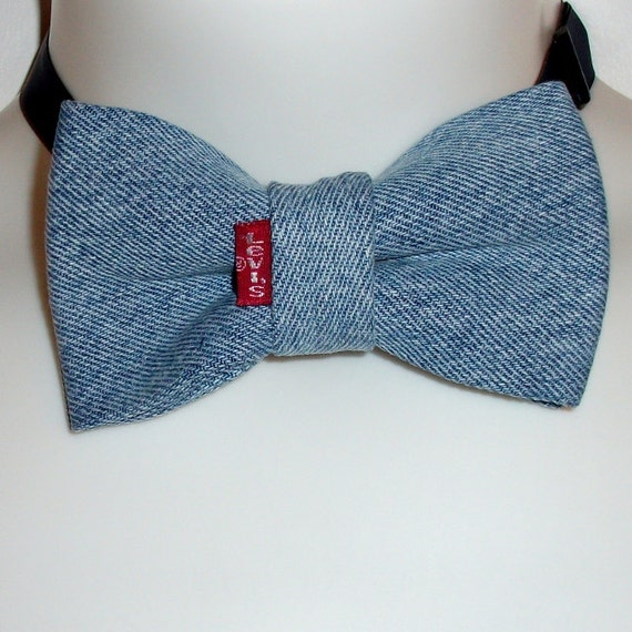 blue jean bow tie denim levi s original bill s