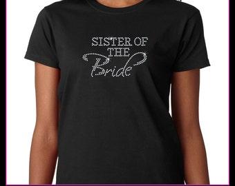 Sister of the Bride Rhinestone T-Shirt
