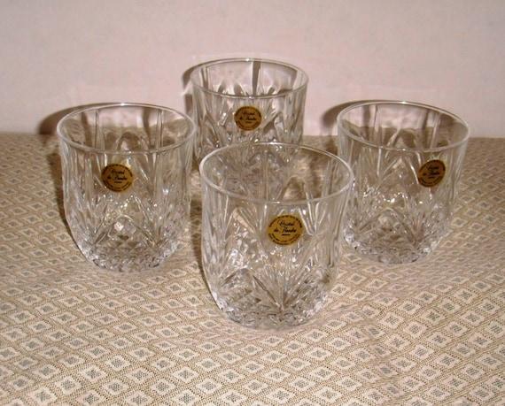 Cristal de Flandre France 24% Lead Crystal Highball Tumblers Glasses.
