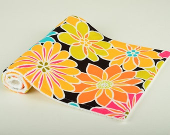Burp Cloth - Bright Graphic Floral - Multicolored