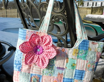Pink Posy tote
