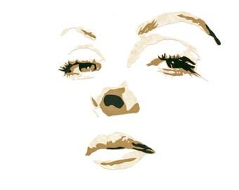 "Original Hand-Cut Paper Portrait - ""Jeanne Crain"""
