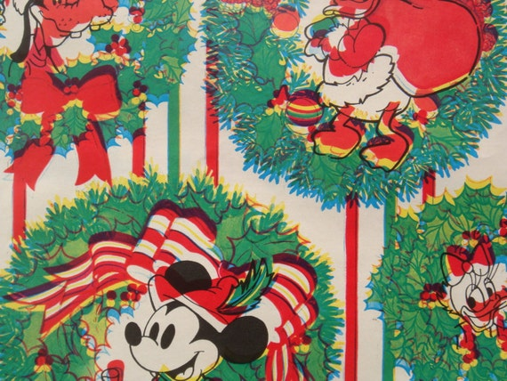 Vintage 3d Gift Wrapping Paper Walt Disney Christmas