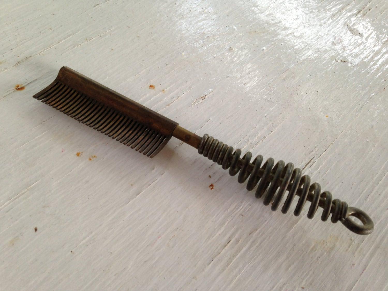 Antique Brass Hot Comb Vintage Hair Press Black African