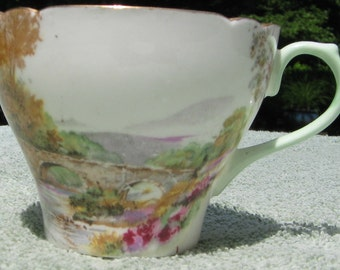 Shelly England Fine Bone China Meadow with Bridge