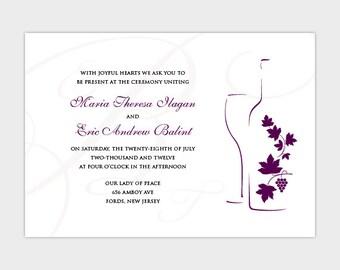 Wine Silhouette Wedding Invitation