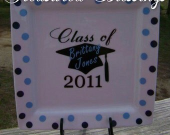 Personalized Class Of Graduation Plate