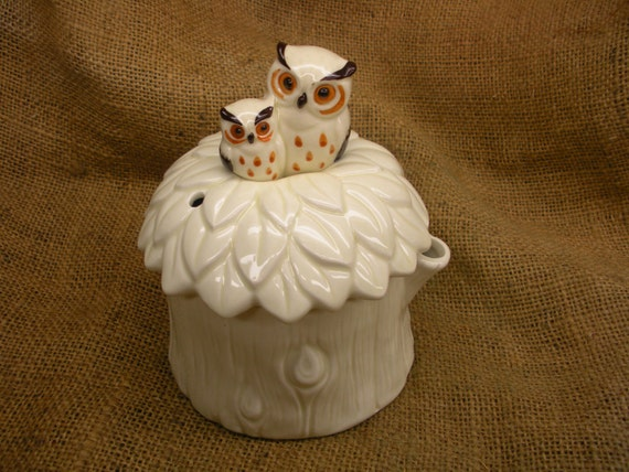 Owl Tea Steeper - Vintage Teapot - Norcrest Japan