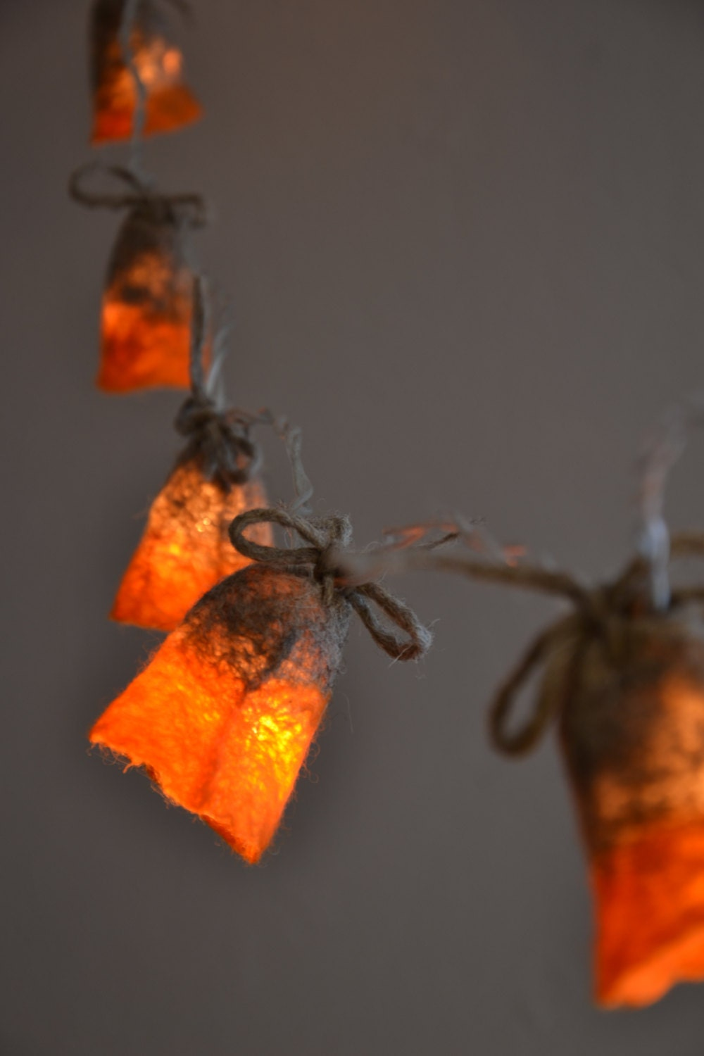 String Lights LED battery powered Garland Gray by UrsulaShop