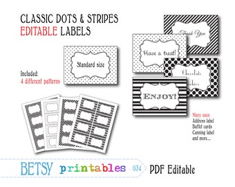 Editable labels or tags, digital labels or tags, PDF labels or tags - INSTANT DOWNLOAD  034