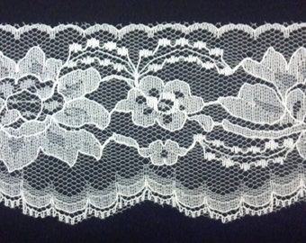 Ivory Flat Lace, 3 Inches Wide, By the Yard, Very Pretty for Bridal, Weddings, Fabulous Ivory Lace for Bridal & Other Craft Projects
