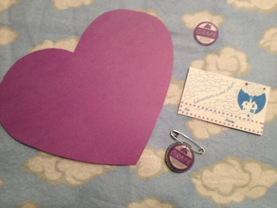 "CLEARANCE DIY Grape Soda Pin Valentine Kit ""The Ellie Badge"" Eco ..."