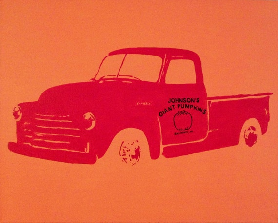 "1947 Chevy Truck Pop Art Painting Custom 16""x20"" Canvas"