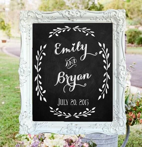 wedding chalkboard welcome to the wedding of with couple 39 s n