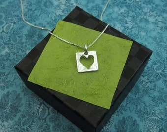 Live With An Open Heart Sterling Necklace