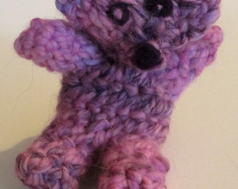 Naalbinded , Small Pink Teddy Bear