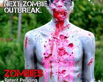 LifeSize Bleeding Zombie Tactical Target Silhouette Target