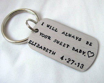 Custom Hand Stamped Key Chain Personalized Any Way You Want It