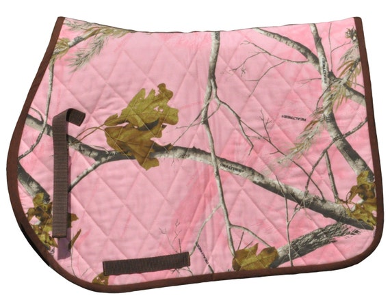 camouflage quilted all purpose english saddle pad