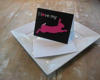 I Love My Bunny Notecards - Quantity 4