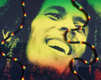 Bob Marley Inspired Rasta Love Bead Necklace