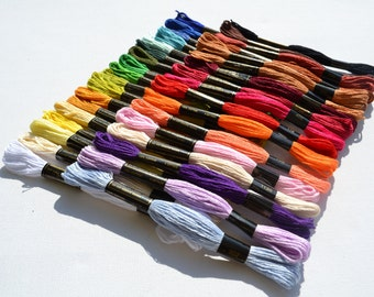 36 skeins of embroidery thread